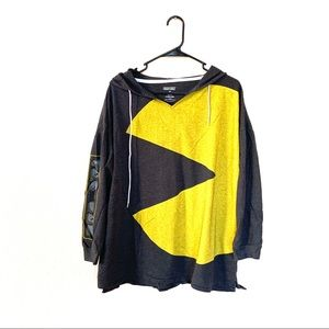Pac-Man Lightweight Oversized Long Sleeve Hoodie M
